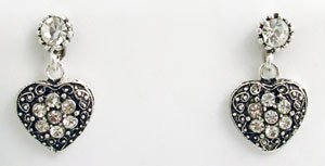 Victorian Style Earrings Swarovski Crystals Reproductio