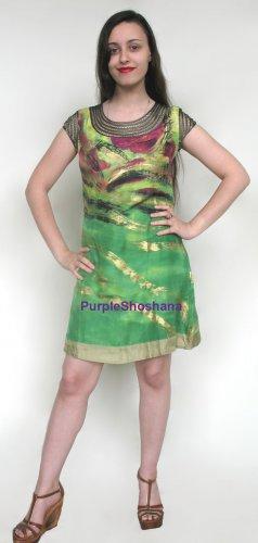 Gorgeous 100% Printed Silk Dress sz 4 US 8 UK 34 EU