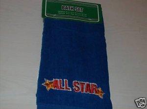 COLORFUL BLUE ALL STAR BATH SET