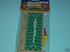 BRAND NEW FUN FOOTBALL PEG GAME
