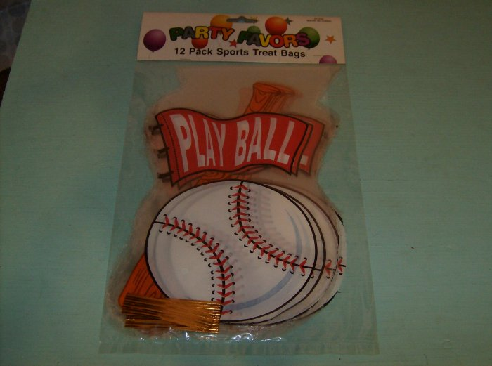 BRAND NEW PLAYBALL 12 PACK SPORTS TREAT BAGS