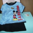 BRAND NEW FUN MICKEY MOUSE NEWBORN 3/6M TWO PIECE OUTFIT