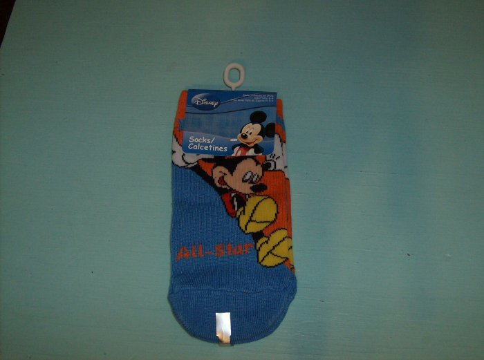BRAND NEW SOCKS WITH MICKEY MOUSE LEAPING