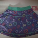 BRAND NEW GIRLS 24 M COLORFUL HEART PRINTED SKIRT