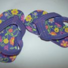 NEW CUTE GIRLS SIZE 5 COLORFUL FLOWER SANDALS