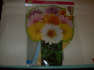 BRAND NEW COLORFUL 3D FLOWER CENTERPICE