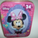 Brand New Disney Minnie Mouse Bowtique 24 Piece Puzzle In Mini Tin