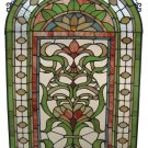 Handcrafted Regency Floral Design Stained Glass Panel