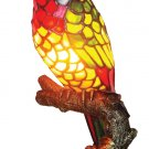 Handcrafted Parrot Tiffany Style Accent Lamp