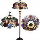 Handcrafted Antique Elegance Roses Tiffany Style Floor Lamp