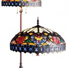 Handcrafted Victorian Rose Tiffany Style Floor Lamp