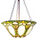 Handcrafted Victorian Reverse Hanging Tiffany Style Lamp