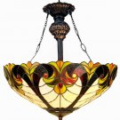 Handcrafted Victorian Tiffany Style Hanging Lamp