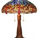 Handcrafted Dragonfly Design Tiffany Style Table Lamp