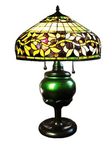 Handcrafted Elegant Ivy Tiffany Style Table Lamp