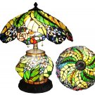 Handcrafted Flower Design Lighted Base Tiffany Style Table Lamp