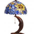 Handcrafted Mini Moon Tiffany Style Table Lamp
