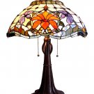 Handcrafted Spring Flower Tiffany Style Table Lamp