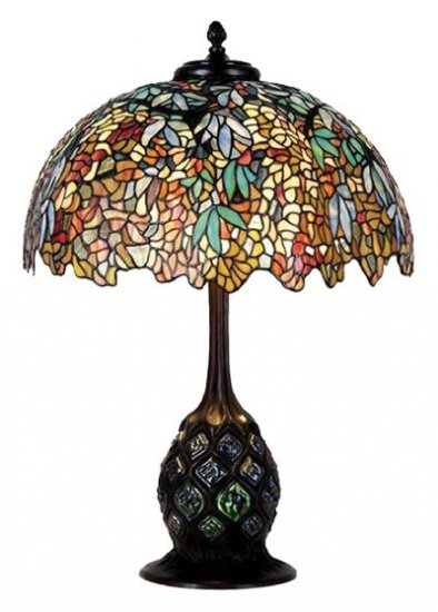 Handcrafted Wisteria Design Tiffany Style Table Lamp