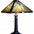 South Western Mountain Tiffany Style Lamp