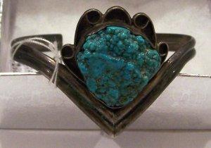 Unique Navajo Silver Turquoise Bracelet