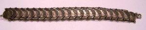 Vintage Silver Pope Giovanni XXIII Souvenir Coin Bracelet