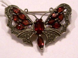 Beautiful Unique Sterling Silver Butterfly Brooch