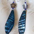Handcrafted Blue Shell Earrings