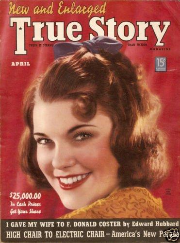 True Story Magazine April 1939 Doris Mae Myers VGC