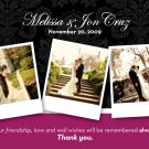 Classic Damask with Your Own Photos - Customized Printable Thank You Card