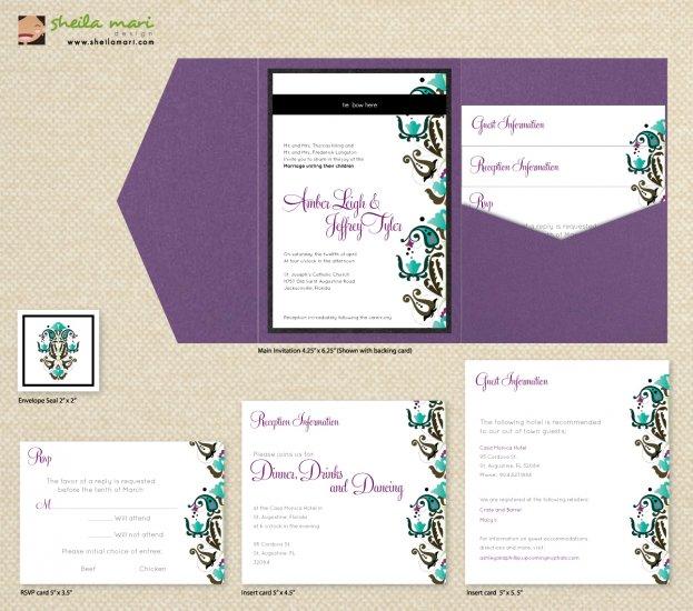 DIY Custom Wedding Invitation Suite