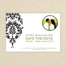 Black and White Damask Save The Date - Customized Printable Save The Date Card