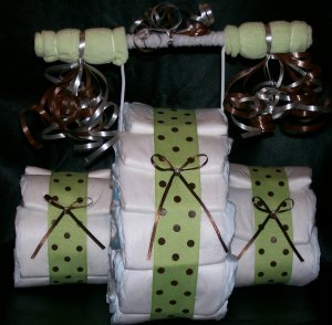 Tricycle Diaper Cake Baby Shower Centerpiece