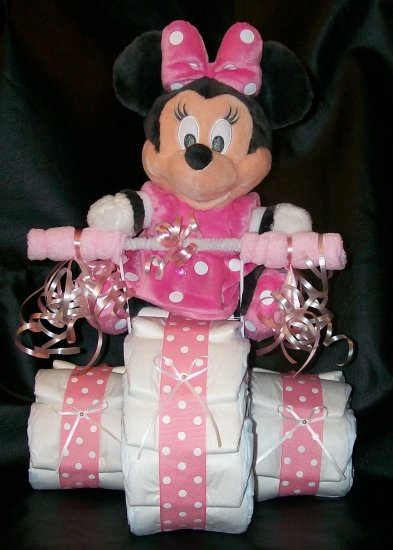 Tricycle Diaper Cake Disney S Minnie Mouse Baby Shower