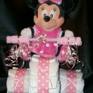 Tricycle Diaper Cake Disney's Minnie Mouse Baby Shower Centerpeice Baby Girl
