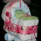 Ladybug Bassinet Diaper Cake Baby Girl Shower Centerpiece