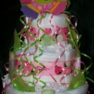 Love Bug Lady Bug Diaper Cake Baby Girl Shower Centerpiece