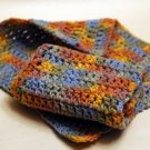 Handmade cotton washcloth dish cloth set of 2