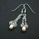 Handmade Free Form Wire Earring (Winter)