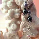 Handmade Free Form Wire Earring (Pearly Swirl)