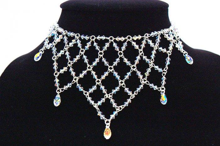 Handmade Swarovoski Crystal Beads Necklace (Princess)