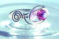 Handmade Wire free form Ring (Candy Drop)