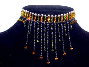 Handmade Crystal Beads Necklace for Wedding(Chanderelle)