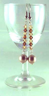 Handmade Beaded Crystal Earring (Spell Bound)