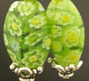 Handmade Lamp work Earrings with Bali Beads (True Blue)