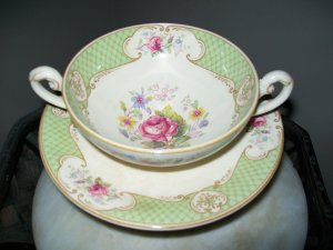 English Staffordshire Soup Bowl