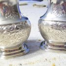 English Silverplate Salt and Pepper Shakers