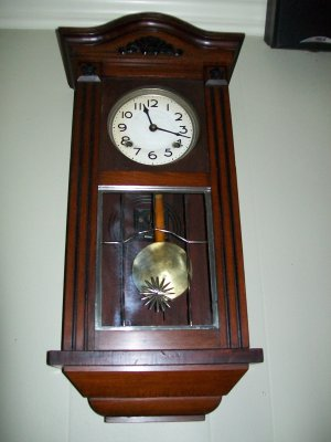 Antique Walnut Wall Clock