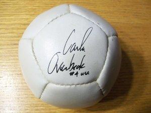 Autographed Carla Overbeck Mini Soccer Ball