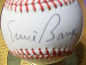 Autographed Ernie Banks Baseball